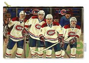 Hockey Art The Habs Fab Four Carry-all Pouch by Carole Spandau
