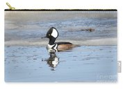 Hodded Merganser With Reflection Carry-all Pouch