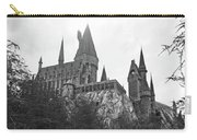 Hogwarts Castle Black And White Carry-all Pouch