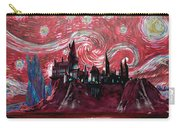 Hogwarts Starry Night In Red Carry-all Pouch