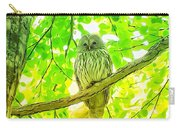 Owl  Watercolor Touch Carry-all Pouch