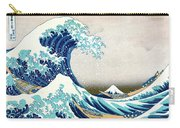 Hokusai Great Wave Off Kanagawa Carry-all Pouch by Katsushika Hokusai
