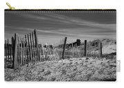 Holding Back The Dunes In Black And White Carry-all Pouch