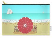 Holiday Romance Behind The Red Umbrella Carry-all Pouch