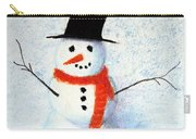 Holiday Snowman Carry-all Pouch