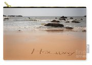 Holiday Written In The Sand Carry-all Pouch