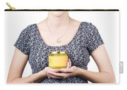 Holistic Naturopath Holding Jar Of Homemade Spread Carry-all Pouch