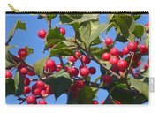 Holly Berries On A Wintry Day I Carry-all Pouch
