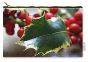 Holly Berries- Photograph By Linda Woods Carry-all Pouch