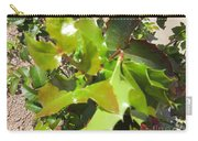 Holly Leaves Carry-all Pouch