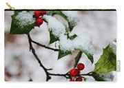 Holly Tree And Snow Carry-all Pouch