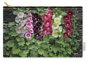 Hollyhock Alcea Rosea Flowers Carry-all Pouch