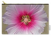Hollyhock On Linen 2 Carry-all Pouch