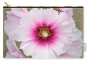 Hollyhock On Linen Carry-all Pouch