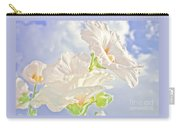 Hollyhocks And Sky Carry-all Pouch