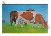 Holstein Friesian Cow And Brown Cow Carry-all Pouch