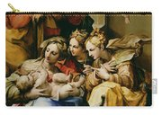 Holy Family With Saint Anne Catherine Of Alexandria And Mary Magdalene Carry-all Pouch