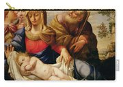 Holy Family With Two Female Figures Carry-all Pouch