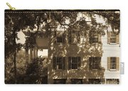 Mcleod Plantation Home In Black And White Carry-all Pouch