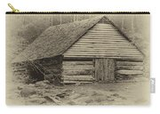 Home In The Woods Sepia Carry-all Pouch