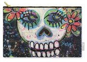 Home Is Wherever I Am With You An Abstract Skull Painting About Love Carry-all Pouch