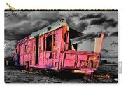 Home Pink Home Black And White Carry-all Pouch