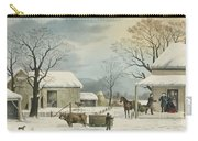 Home To Home To Thanksgiving, 1867 Carry-all Pouch