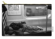 Homeless In Motion In Black And White Carry-all Pouch