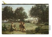 Homer And The Shepherds In A Landscape Carry-all Pouch by Jean Baptiste Camille Corot