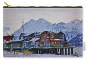 Homer Spit Board Walk Winter Moments Carry-all Pouch