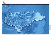 Honduras Country 3d Render Topographic Map Blue Border Carry-all Pouch