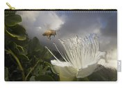 Honey Bee Apis Mellifera Approaching Carry-all Pouch by Mark Moffett