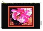 Honey Bee In A Pink Flower Carry-all Pouch