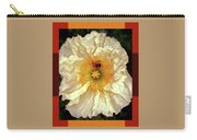 Honey Bee In Stunning White And Gold Flower Carry-all Pouch