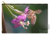Honey Bee On Goji Berry Flower Carry-all Pouch