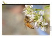 Honey Bee On Herb Flowers Carry-all Pouch