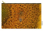 Honey Bee On Sunflower Carry-all Pouch