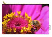 Honey Bee Pollinating Zinnia Carry-all Pouch