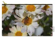 Honeybee And Daisy Mums Carry-all Pouch