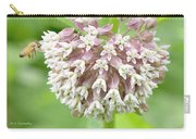 Honeybee And Milkweed Flowers Carry-all Pouch