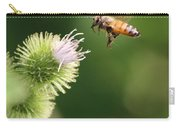 Honeybee Flying To Thistle  Carry-all Pouch