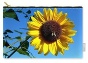 Honeybee On A Sunflower Carry-all Pouch