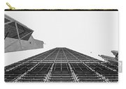 Hong Kong Building Black And White Carry-all Pouch