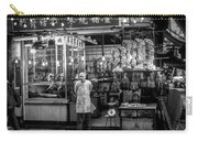 Hong Kong Foodmarket In Black And White, China Carry-all Pouch