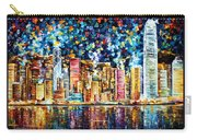 Hong Kong - Palette Knife Oil Painting On Canvas By Leonid Afremov Carry-all Pouch