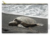 Honu Sleeping On The Shoreline At Punalu'u Carry-all Pouch