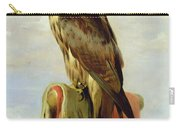 Hooded Falcon Carry-all Pouch by Sir Edwin Landseer