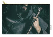 Hooded Man With Axe Carry-all Pouch