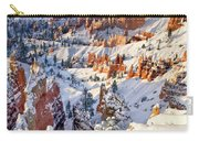 Hoodoos And Fir Tree In Winter Bryce Canyon Np Utah Carry-all Pouch