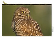 Hoot A Burrowing Owl Portrait Carry-all Pouch